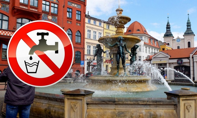 Woda z fontanny niezdatna do picia.